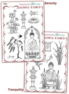 Serenity/Tranquility Rubber stamps Multi-buy - A5