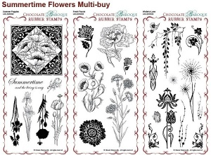 Summertime Flowers Collection Rubber Stamps Multi-buy - DL