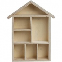 Wood House Shaped Shelving system