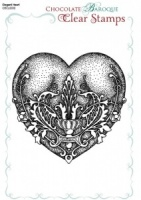 Elegant Baroque Heart Single Clear stamp