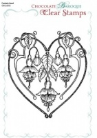 Fuchsia Baroque Heart Single Clear stamp