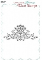 Ornate Scroll Single Clear stamp