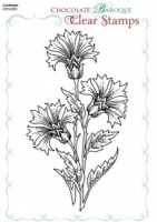 Cornflower Clear stamp