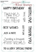 Mackintosh Sentiments Clear stamp set