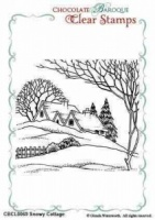 Snowy Cottage Clear Stamp