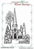 Winter Church Clear Stamp