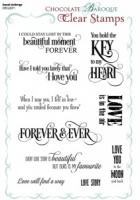 Sweet Nothings Clear stamp set -  A5