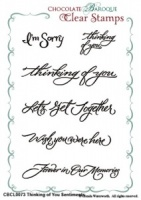 Thinking of You Sentiments Clear stamp set