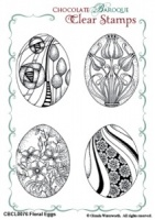 Floral Eggs Clear stamp set