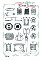 Dressmaking Collage Clear stamp set