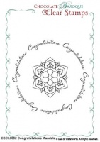 Congratulations Mandala Duo Clear stamps