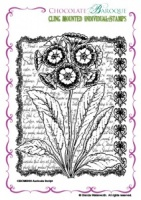 Auricula Script cling mounted rubber stamp