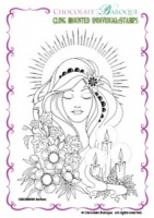 Serena cling mounted rubber stamp