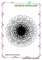 Circle Centre Flowerhead cling mounted rubber stamp