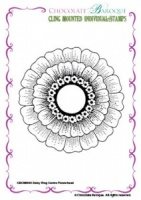 Daisy Ring Centre Flowerhead cling mounted rubber stamp