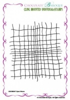 Open Weave cling mounted rubber stamp