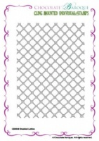 Studded Lattice cling mounted rubber stamp