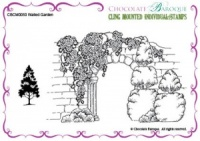 Walled Garden cling mounted rubber stamp