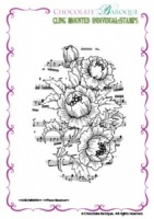 Flora Musica Individual cling mounted rubber stamp