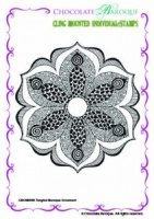 Tangled Baroque Ornament Individual cling mounted rubber stamp