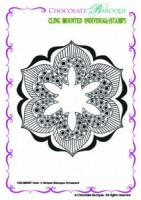 Dots 'n Stripes Baroque Ornament Individual cling mounted rubber stamp