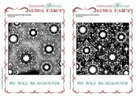 Big Bold Backgrounds Dotty-Solid Snowflake Rubber stamps Multi-buy