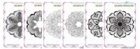 Baroque Ornament Cling Mounted Individual Rubber stamps Multi-buy