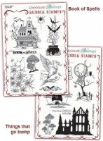 Book of Spells/Things that go Bump Rubber stamps Multi-buy - A5