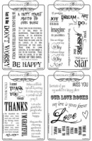 ''Words of'' Rubber stamp Multi-buy - A6