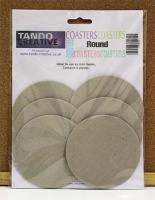 Tando Creative - Chipboard 3.75'' Round Coasters - pack of 6