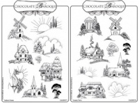 Sunburst Scenes/Country Views Rubber stamps Multi-buy - A5