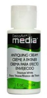 DecoArt Antiquing Cream - Titanium White
