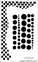 Dylusions Stencil 5''x8'' - Chequered Dots