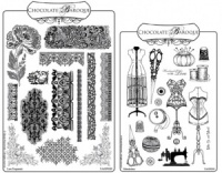 Haberdashery/Lace Rubber stamps Multi-buy