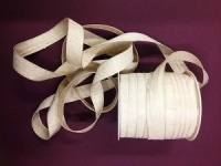 Distressed Cotton Ribbon - Natural 15mm x 3M