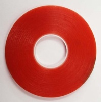 Ultra Clear Double Sided Red Line Tape - 6mm