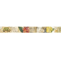 Stamperia Deco Tape - Flowers and Poems 2cm x 10m
