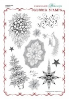 Christmas Fusion Rubber Stamp Sheet - A4