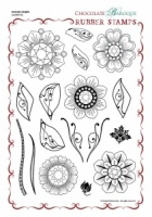 Diamante Delights Rubber Stamp Sheet - A4