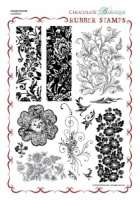 Decadent Brocade A4 Rubber Stamp Sheet - A4