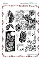 Butterfly Dreams Rubber Stamp sheet - A4