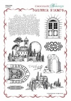Echoes of Italy Rubber Stamp Sheet - A4