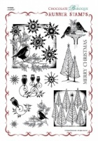 Fat Robin Rubber stamp sheet - A4