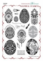 Baroque Eggs Rubber stamp sheet - A4