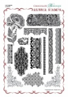 Lace Fragments Rubber stamp sheet - A4