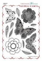 Tangled Garden Rubber stamp sheet - A4