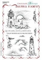 Seashore Scenes Rubber stamp sheet - A5