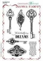 Key to my Dreams Rubber Stamp Sheet - A5