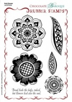 Bold Blooms Rubber Stamp Sheet - A5
