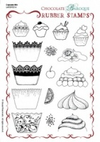 Cupcake Mix Rubber stamp sheet - A5
